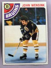 1978-79 TOPPS JOHN WENSINK BOSTON BRUINS #133 Hockey CarD LOT OF 2 NM-MT