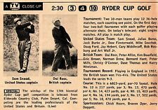 1959 tv ad~RYDER CUP GOLF/Sam Snead/Britain's Dai Rees,Peter Alliss,Norman Drew