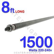 """HE9615 96"""" / 8ft LONG 1500 watt 1.5kw DRY / WET ROD HEATING ELEMENT 220v-240v"""