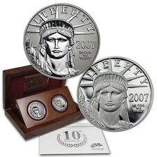 2007 10th Anniversary 9995 Platinum American Eagle 2 Coin Set