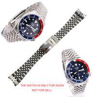 22mm 316L Steel Solid Curved Jubilee Bracelet Watch Band For SKX5 SRPD63K1