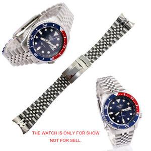 22mm 316L Steel Solid Curved Jubilee Bracelet Watch Band For SKX5 SRPD53K1