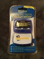 PEDOMETER GO WALKING by Sport Line Calorie Step & Distance New Sealed