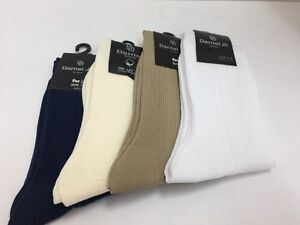 Boys Dress Socks 4 Pairs Darnel Assorted Colors One Size Fits 7-8/8.5 Nylon