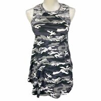 NEW R&R Surplus Womens Cotton Sleeveless Tank Top Gray Black White Small 1CS1