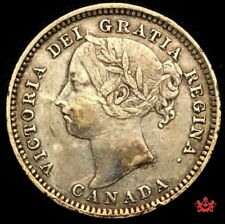 1892 Canada 10 Cents OBV5 - VF/EF - Lot#1550P