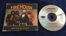 FIREHOUSE CD SINGLE WHEN I LOOK INTO YOUR EYES