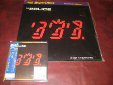 THE POLICE GHOST IN THE MACHINE NAUTILUS ORIGINAL AUDIOPHILE LP + JAPAN OBI CD