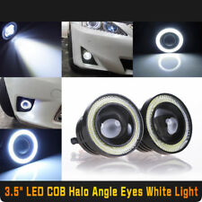 "2x New 3.5"" Car COB LED Angel Eye Halo Ring Projector Lens Fog DRL Driving Light"