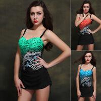 Womens Swimwear One Piece Swimsuit Beach Dress US Size 8 10 12 14 16 18 #5555