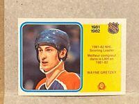 1982-83 O-PEE-CHEE OPC #243 OILERS WAYNE GRETZKY TEAM LEADER CARD