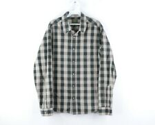 prAna Mens Medium Multi-Color Plaid Pearl Snap Button Western Long Sleeve Shirt