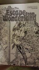 Escape From Wonderland Script Book #1 and #0  Gem Wraparound Sketch Cover