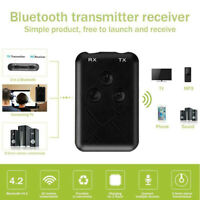 Wireless Bluetooth 4.2 Transmitter Receiver Stereo 3.5mm Audio Adapter Dongle Y