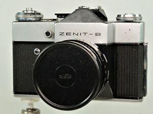 Vintage  Zenit B Body + 58mm f2 Helios Prime Lens, E.R. Case. G.W.O.