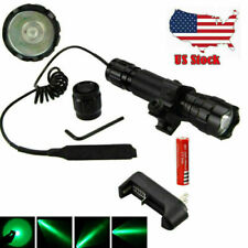 8000Lm Tactical Led Flashlight Hunting Torch Rail Scope Light w/ Picatinny Mount