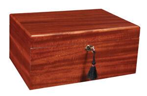 Ashton - Mahogany Large Savoy Cigar Humidor 100CT - HSAML