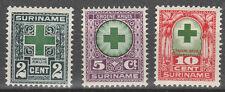 xxx SURINAME NVPH 127/29, Groene Kruiszegels 1927. C.w. € 11,--
