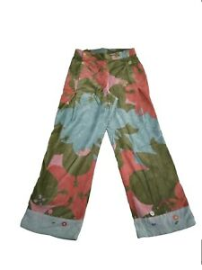 WOW!!! New OILILY GIRL'S 100% Cotton Velour Firefly Embroidered Pants 152 12
