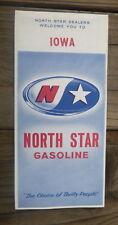 1966 Iowa road  map North Star oil  gas
