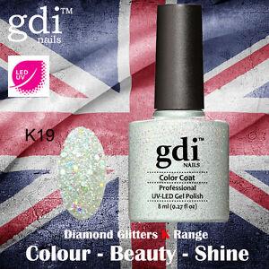 UK SELLER Gdi Nails Diamond Glitters K19 UV/LED Gel Soak Off nail polish