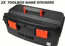 Custom Toolbox name stickers x2 (carpenter, electrician, builder, tools ETC)