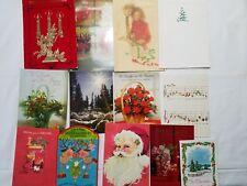 VINTAGE LOT OF 14 Christmas Cards Hallmark, American Greetings, Gibson, MORE