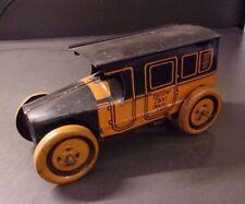 Vintage Tin Litho J. Chein & Co. Windup  Yellow Taxi Main 7570 Car