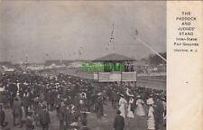 Postcard The Paddock + Judges' Stand Fair Grounds Trenton NJ