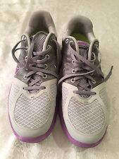 NIKE LUNARGLIDE 2 FLYWIRE GRAY WHITE RUNNING US SHOE SIZE WOMEN 11 RN 407647-051