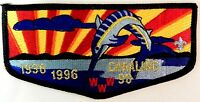 MERGED CANALINO OA LODGE 90 MISSION COUNCIL 304 60TH ANN BSA PATCH SERVICE FLAP
