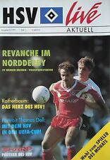 Programm 1990/91 HSV Hamburger SV - Werder Bremen