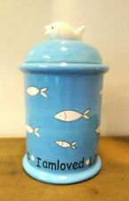 Ceramic Canister For Cat Treats - New in Box