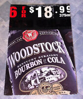 Vintage Woodstock Bourbon & Cola Corflute Advertising Display Sign