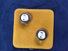 "Wedgwood black and white jasperware 1/2"" clip on earrings"