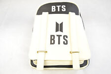 KPOP BTS Bangtan Boys Logo Beige Backpack - USA Seller, same day fast ship