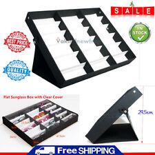 18 Slot Sunglasses Display Counter Stand Storage Rack Cabinet Organizer Tray Box