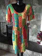BIG HED  Beach Island Dress  Resort Cruise Tropical  Splashy Print    NWT   Sm