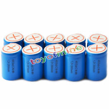 10x Ni-Mh 4/5 SubC Sub C 1.2V 2800mAh Rechargeable Battery with Tab Blue