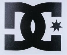 "One Authentic DC Shoes Black Logo Decal 4"" Snowboard Skateboard TRANSFER STICKER"