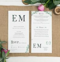 Wedding Invitation - Fern Monogram