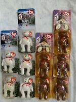 1999 Ty McDonald's International Teenie Beanie Bears, 10 pieces
