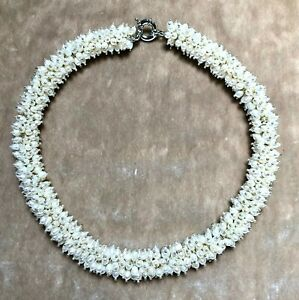 """16"""" White Freshwater Pearl & Sterling Silver Cluster Choker Necklace"""
