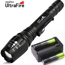 Zoomable Flashlight 5 Mode 50000LM T6 LED 18650 Battery Focus Military Torch