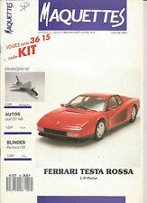 MAQUETTES N° 19 CRUSADER F8E / GOLT GTI 16S / PANHARD 178 / FERRARI TESTA ROSSA