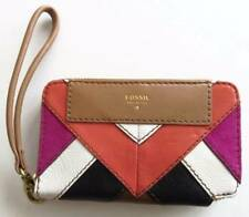 Fossil Amanda Pink Multi Patchwork Leather Multifunction Wallet SWL1301664 NWT