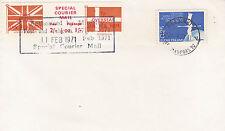 Grève de 1971 MAIL SPECIAL Courier mail COVER UK vers la Finlande