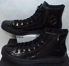 New Mens 13 Converse CTAS Hi Triple Black Rubber Textile Shoes $70 153228C