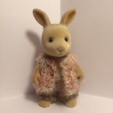 Sylvanian families clothes ~ knitted Brown/Orange Waist Coat + Brown Pants Adult