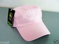 JOHN DEERE PINK WHITE BASEBALL CAP VISOR HAT OWNERS EDITION ADJUSTABLE NEW NWT